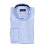 Olymp Overhemd blocked light blue blauw