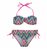 Boobs & Bloomers Multi zigzag bikini ella roze