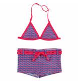 Zee & Zo Zee & zo halter meisjes bikini poppy cubic blue blauw