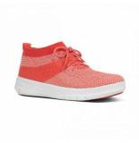 """FitFlop F-sportyâ""""¢ sneaker Áœberknit hot coral neon blush oranje"""