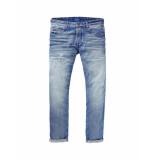 Scotch & Soda Jeans ralston distressed light denim blue blauw