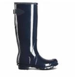 Hunter Regenlaars original wellington adjustable gloss navy blauw