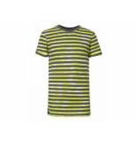 Petrol Industries Shirt korte mouw streep geel