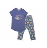 Charlie Choe Pyjamaset harem 3/4 blauw