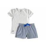 Little Label Shortama blue waves girls melee grijs
