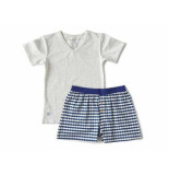 Little Label Shortama blue waves boys melee grijs