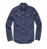 G-Star Bristum utility shirt l/s donker d10743-a585-8708 blauw