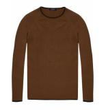 Scotch & Soda Pullover in cashmere blend quality bruin