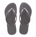 Havaianas Slipper kids slim steel grey grijs