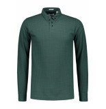 Dstrezzed Polo printed stretch pique dk green groen