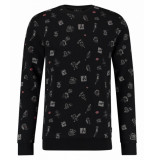 Kultivate 1801031017 100 sweater pinup comic black zwart
