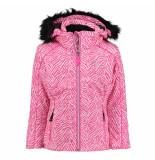 Dare2b /witte meisjes ski jas entrust 15.000mm waterkolom roze