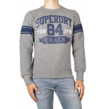 Superdry Track & field crew sweat grijs
