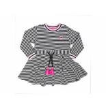 Beebielove Sweat dress streep wit