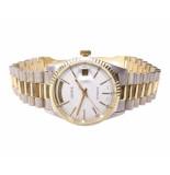 Christian 14 karaat bicolor geneve horloge geel goud