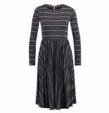 Freebird Jurk christa multi stripe blauw