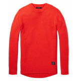 Scotch & Soda Chunky loose fit pullover rood