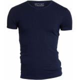 Garage Bodyfit t-shirt v-neck navy blauw