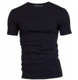 Garage Semi bodyfit t-shirt r-neck black zwart