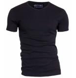 Garage Semi bodyfit t-shirt v-neck black zwart