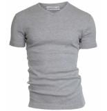 Garage Semi bodyfit t-shirt v-neck grey mÁƒÂªlÁƒ©e grijs