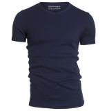 Garage Semi bodyfit t-shirt v-neck navy blauw