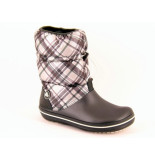 Crocs Crocband winter boot plaid grijs