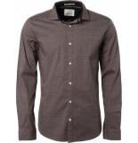 No Excess Shirt, l/sl, allover d, stret old pink