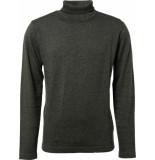 No Excess Pullover roll neck, 2 colour twiste steel grijs