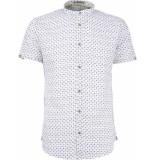 No Excess Shirt, s/sl, granddad, ao printed, milk-6 xxl wit