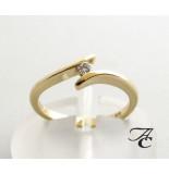 Atelier Christian 14 karaat gouden ring met centrale diamant geel goud