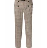 Maison Scotch Tailored check pants beige