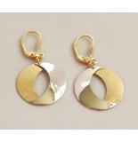 Christian 14 karaat bicolor gouden oorbellen geel goud
