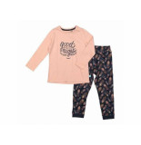 Charlie Choe Pyjama homewear set fancy feat roze