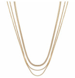 CLUB MANHATTAN Necklace rebel gold goud