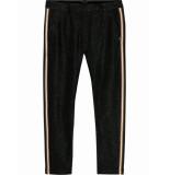 Maison Scotch 146699 18 lurex tailored pants with tape detail combo b zwart