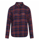 Sisters Point Blouse vezzi red check blauw