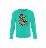 Geisha Sweater luipaard groen