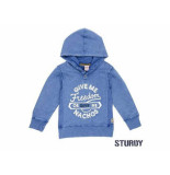 Sturdy Sweater met capuchon freedom b blauw