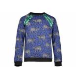 Geisha Sweater luipaard cobalt kobalt blauw
