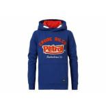 Petrol Industries Hooded sweater appl capri kobalt blauw