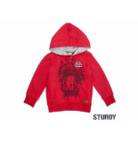Sturdy Sweater met capuchon outsiders rood