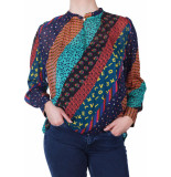 Dixie Blouse multy collor printed blauw