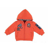 Mayoral Sweatvest met capuchon patches rood