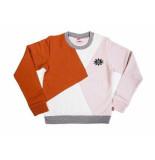 Little Miss Juliette Sweater colorblock grl pwr ro roze