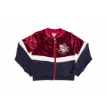 Little Miss Juliette Bomber vest velours multi