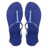 Havaianas Slipper you riviera croco blue star blauw