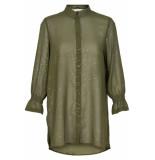 Numph Gwyneira shirt green moss groen