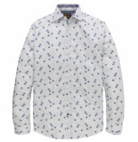 PME Legend Psi187206 7003 long sleeve shirt poplin print variety bright white wit