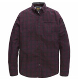 PME Legend Long sleeve shirt check harbor winetasting rood